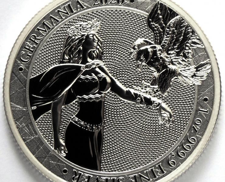 2020 Germania 5 Mark 1 oz Silver Bullion Round