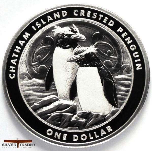 2020 Crested Penguin New Zealand 1oz Silver Bullion Coin