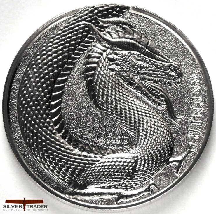 2020 Germania Beasts Fafnir Geminus 1oz Silver Bullion Round
