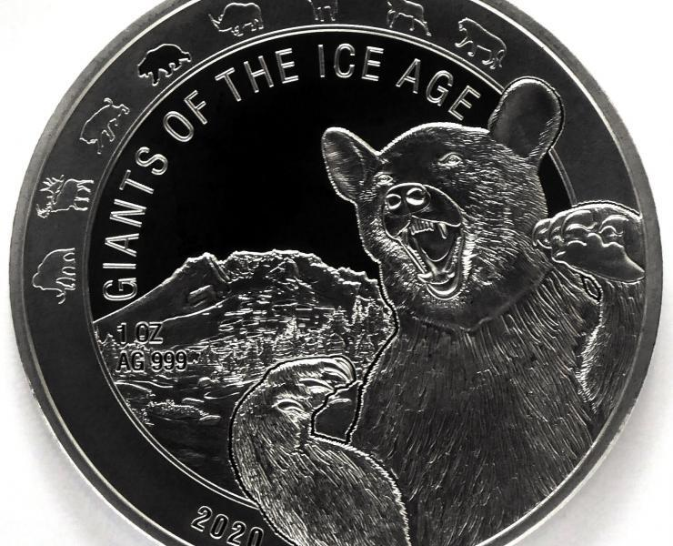 2021 Cave Bear Giants of the Ice Age 1oz Silver Bullion Coin
