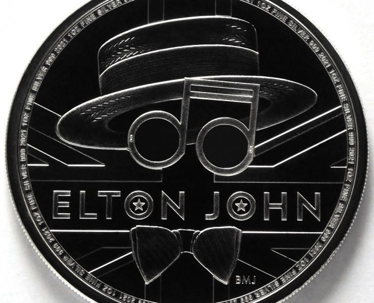 2021 Elton John Music Legends 1 oz Silver Bullion Coin