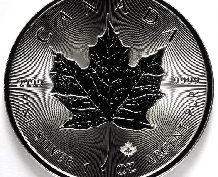 2021 Canadian Maple Leaf 1 oz Silver Bullion Coin