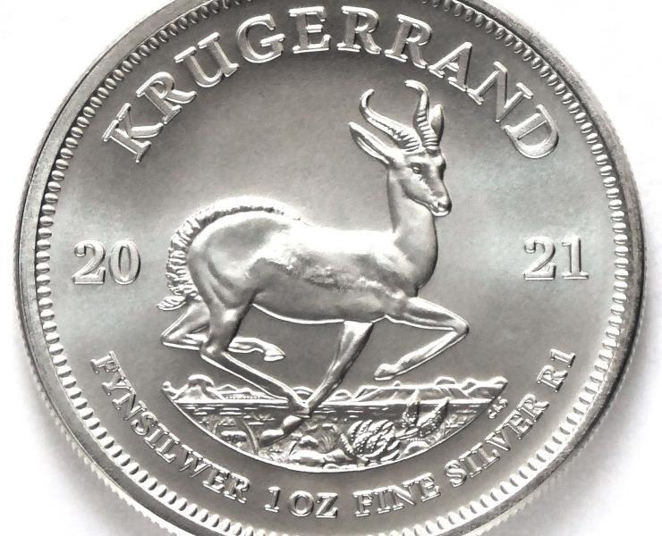2021 South African Krugerrand 1 oz Silver Bullion Coin