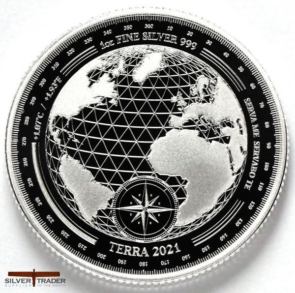 2021 Tokelau Planet Terra 1oz Silver Bullion Coin