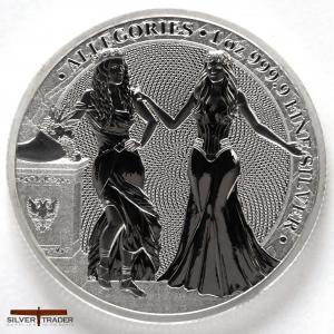 2020 Allegories Italia & Germania 1oz Silver Bullion Round