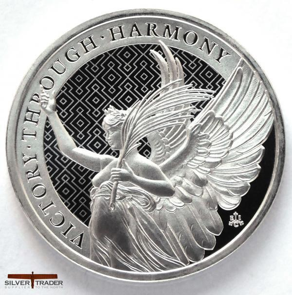 2021 The Queen's Virtues Victory 1oz Silver Bullion Coin