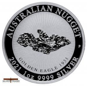 2021 Australian Golden Eagle Nugget 1oz Silver Bullion Coin