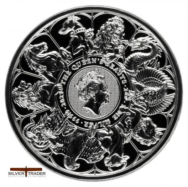 2021 Queens Beasts Completer 2oz Silver Bullion Coin
