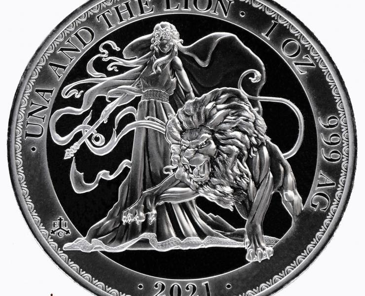 2021 St Helena Una and the Lion Restrike 1oz Silver Bullion Coin