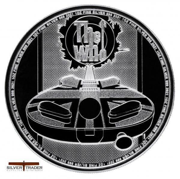 2021 The Who Music Legends 1 oz Silver Bullion Coin